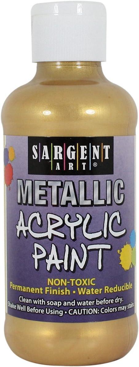 Sargent Art 25-2381 8-Ounce Metallic Acrylic Paint, Gold