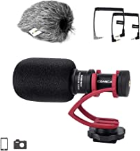 Comica CVM-VM10II Compact Camera Microphone Cardioid Directional External Mini Shotgun Video Microphone for Camera Smartphone DSLR Canon 70D Nikon D3300 Sony  Panasonic Red