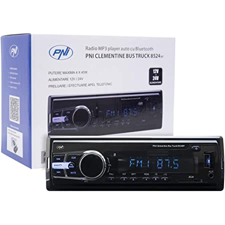 Radio Mp3 Player Auto Pni Clementine Bus Lkw 8524bt 4x45w 12v 24v 1 Din Cu Sd Usb Aux Rca Si Bluetooth 24 Volt Heimkino Tv Video