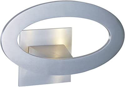 Wall Sconces 7 Light with Satin Aluminum Finish Aluminum Material LED Bulb 10 inch 7 Watts
