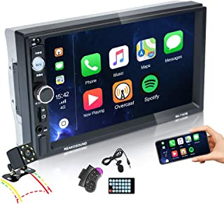 $79 » EKAT Double Din Car Stereo 7Inch Touchscreen with Bluetooth CarPlay Car Radio with TF/USB/AUX Port,Phone Mirror Link,Steer...