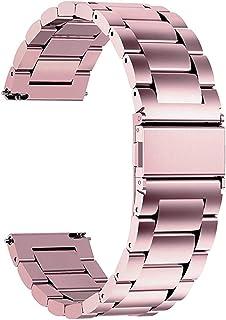 Fullmosa Smart klockarmband 16 mm 18 mm 19 mm 20 mm 22 mm 24 mm, metallremmar för män och kvinnor, kompatibel för Samsung,...