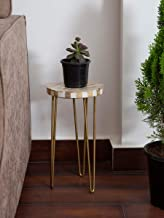 Casa Decor Garden Table with Metal Hairpin Legs for Balcony, Living Room and Hallway Space Decor Table