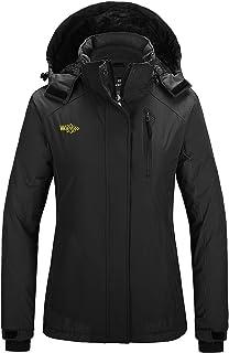 Wantdo Women`s Waterproof Ski Jacket Mountain Snow Coats Hooded Windproof Parka