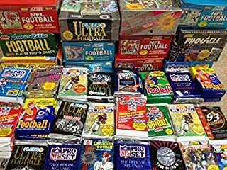 GREAT LOT OF OLD UNOPENED FOOTBALL CARDS IN PACKS From the Late 80's and Early 90's. 60 + Cards in Sealed Wax Packs picked by Superior Sports