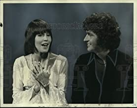 Historic Images - 1974 Press Photo Mac Davis and Helen Reddy Appear on The Mac Davis Show