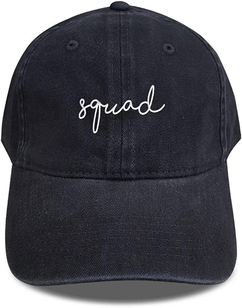 WonderCappa Wedding Squad Baseball Cap Embroidered Unisex Size Adjustable Strap Back Soft Cotton