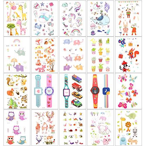 Zooawa [20 PZS Pegatinas de Tatuajes Temporales de Planta...