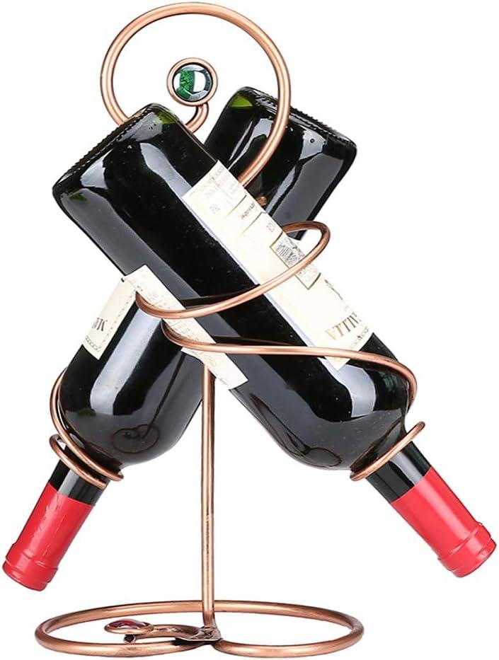 LIRONGXILY Wine Rack Iron Art Simple Win Industry No. 1 Bottle Double Sales