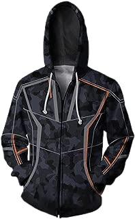 Clothing Cosplay Kids/Unisex Adult 3D Zipper Hooded Sweatshirt