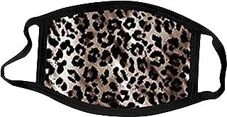 5 Piezas_Mascarillas de algodón Lavable y Reutilizable con Estampado de Leopardo de, Adecuada para Hombres y Mujeres Adultos