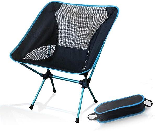 HMJZ Chaise de pêche Se Pliante portative de Camping 600D Oxford en Aluminium de Tissu pour Le Tabouret de Plage de Pique-Nique en Plein air