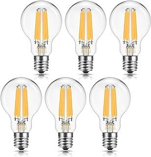 ドリスショップ LED電球 E17口金 60W形相当 電球色 クリプトン電球 フィラメント電球 全方向 シャンデリア用 エジソン電球 クリア電球 調光器対応 密閉形器具対応 6個入