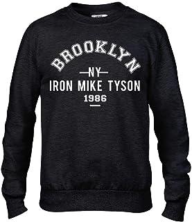 Iron Mike Tyson Brooklyn Boxing Premium Men's Black Crew Sweatshirt