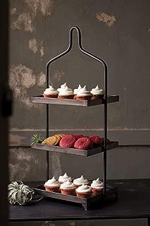 Kalalou Three Tiered Metal Cupcake Display, One Size, Gray