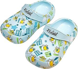 Hopscotch Baby Boys and Baby Girls EVA Text Printed Clog in Aqua Color