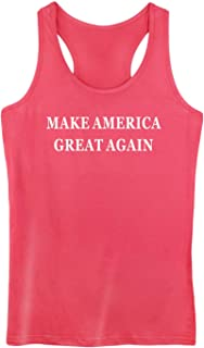 GROWYI Funny Workout Tank Tops Racerback for Women Make America Great Again Political Fitness Gym Sleeveless Shirt