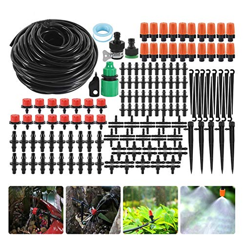 Automatic Watering Device 25M Irrigation Spray DIY Drip Irrigation System Automatic Watering Garden Hose Micro Drip Watering Kits with Adjustable Drippers (Color : Type2 10M)