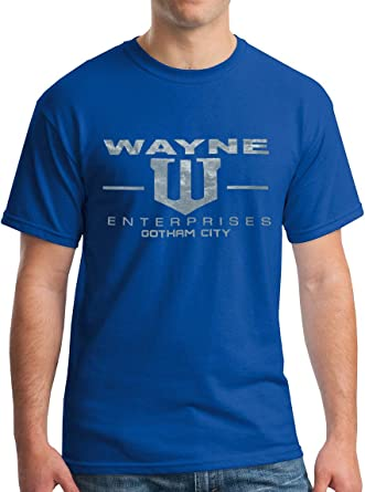 New York Fashion Police Wayne Enterprises T-Shirt - Metallic Silver Print