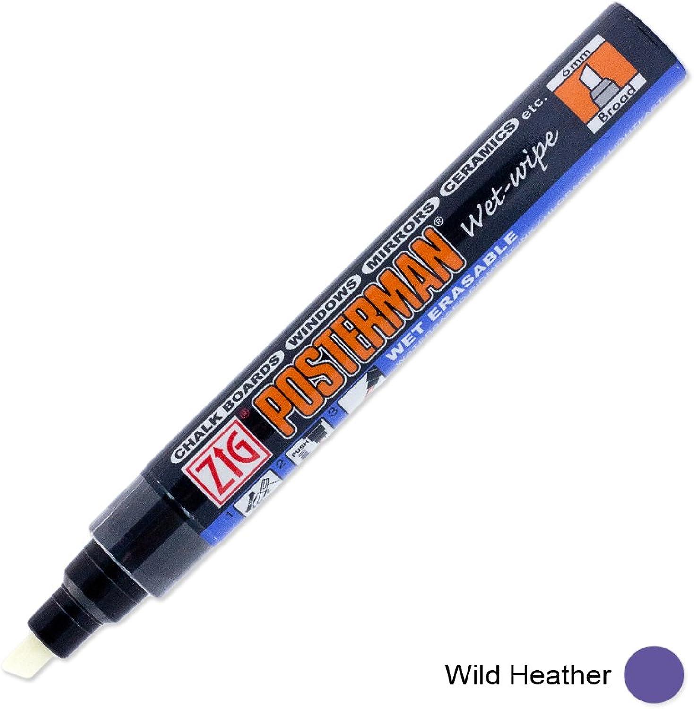 Zig Posterman pma-550 6 mm Nass abwischbar Breite Spitze Marker Marker Marker – Wild Heather B0123EGOM8     | Gutes Design  b2d2cd