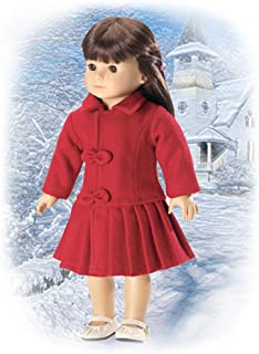 "Red Wool Coat - Fits 18"" American Girl Dolls"