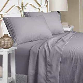 Mejoroom King Size Sheet Set - Extra Soft Luxury Brushed Microfiber 1800 Thread Count Percale Egyptian Sheets with 15-inch...