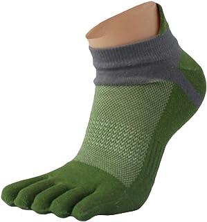 Hombres Cinco Dedos Calcetines (Verde)