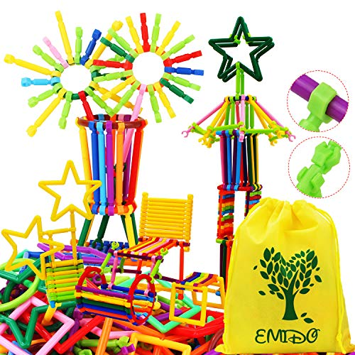 EMIDO 480 Pcs Building Toy Building Blocks Bars Different Shape Educational...