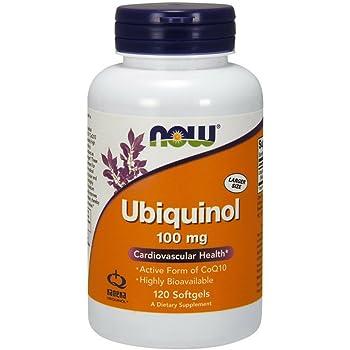 NOW Supplements, Ubiquinol 100 mg, High Bioavailability (the Active Form of CoQ10), 120 Softgels