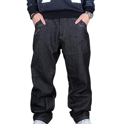fb21ec57 Dexinx Men's Exquisite Classic Vintage Jeans Urban Baggy Denim Hip Hop  Dancing Trousers
