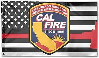 PAOMEHAW Cal FIRE Logo Family Flag Garden Flag Party Flag 100% Polyester Fiber Family Flag