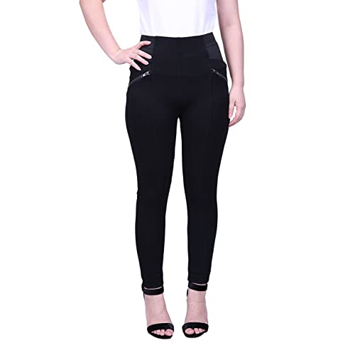 7db1ae575cd HDE Womens Plus Size Pants Skinny Ponte Knit Leggings Slimming Office  Trousers