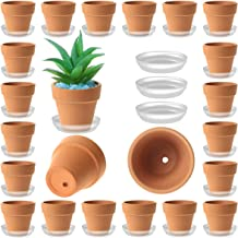 35 Pack Mini Terracotta Pots - 2 inch Small Terra Cotta Plant Pot with Saucer - Tiny Clay Planter in Bulk - Drainage Hole ...