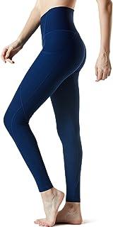 Tesla Yoga Pants (Capris & Long) High-Waist/Mid-Waist Tummy Control Sports Leggings w Hidden Pockets/Side Pockets