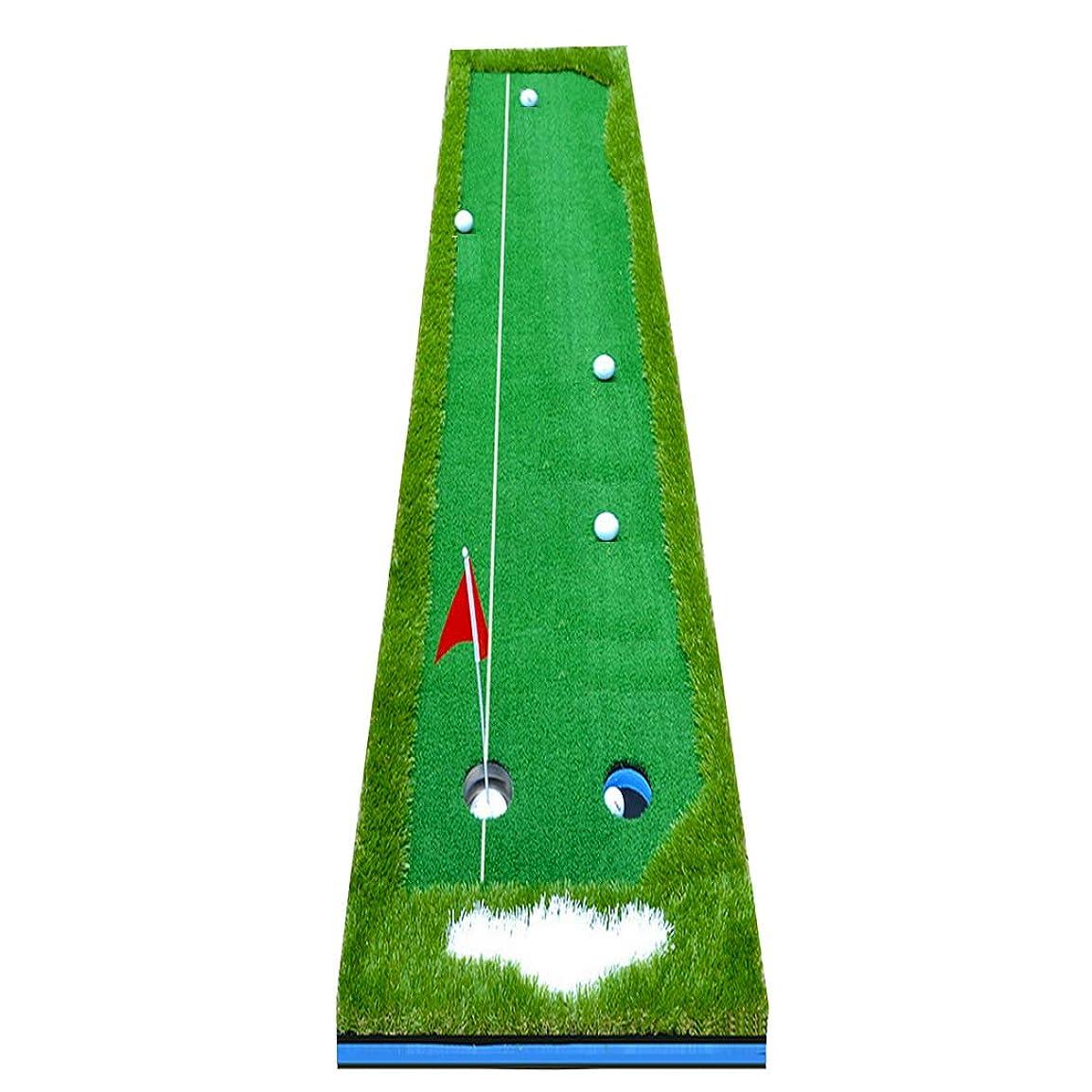 エキゾチック織機切るEnhong ゴルフ練習用パターマット ゴルフパター パッティング グリーン 誘導ライン有 サイズ300×50cm 300×75cm