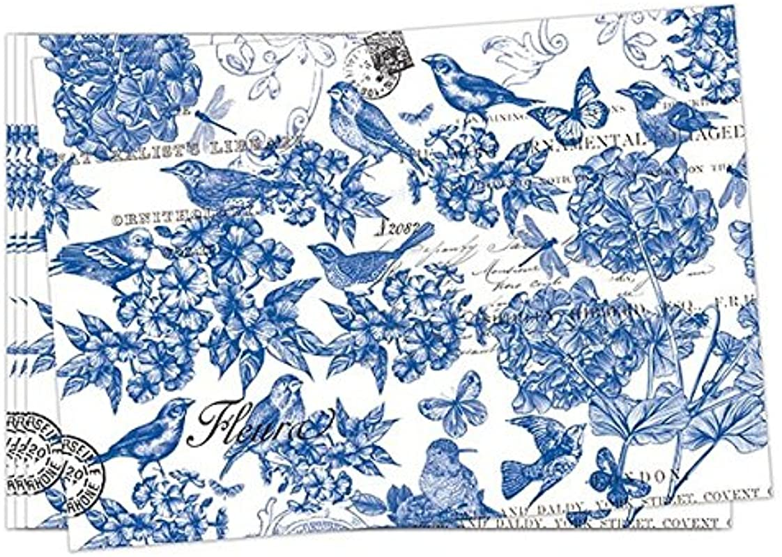 The Deborah Michel Collection Turkish Placemats Set Of 4 Indigo Cotton