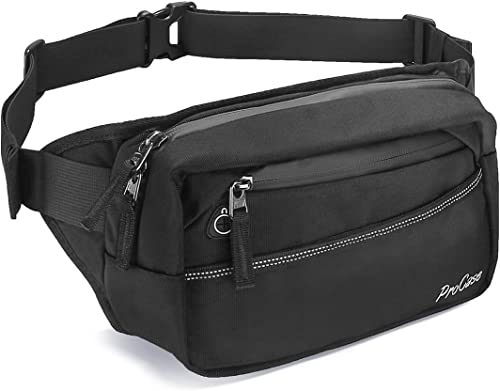ProCase Waist Pack, Waist Fanny Pack Large Capacity Hip Bum Bag for Men Women for Traveling, Hiking, Running, Outdoor...
