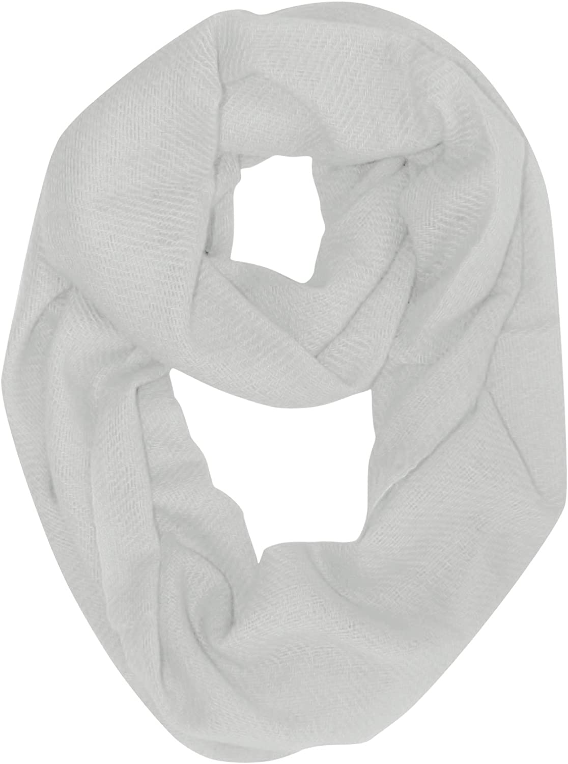 Peach Couture Light and Soft Luxurious Cashmere Wool Infinity Loop Wrap Scarf