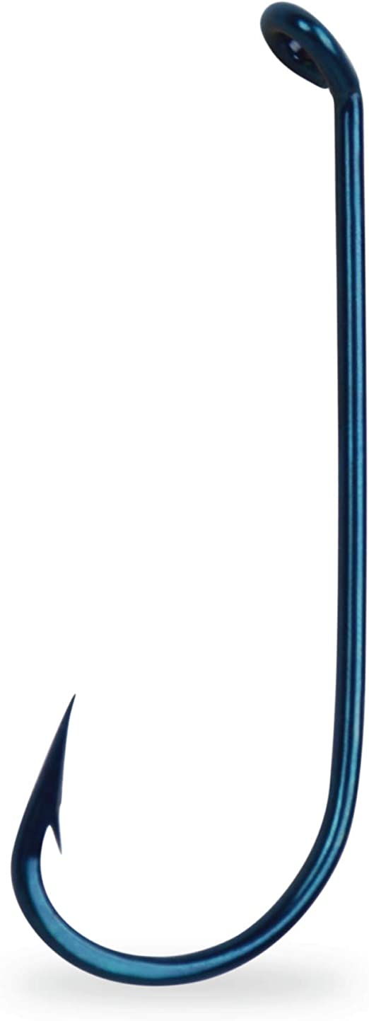 MUSTAD 4011E VIRGINIA HOOK SIZE 5-BLUED-TURNED DOWN EYE-100 COUNT