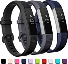 GEAK Bands Compatible with Fitbit Alta and Fitbit Alta HR, 3 Pack Soft Silicone Wristbands for Fitbit Alta HR Bands with S...