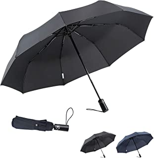 6018dfddb859a boy Windproof Travel Umbrella, Compact Umbrella Automatic Open Close,  Upgraded 9 Ribs Reinforced Windproof