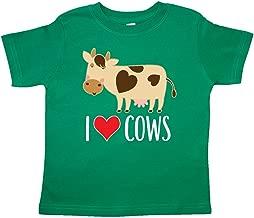inktastic I Love Cows Dairy Farmer Toddler T-Shirt