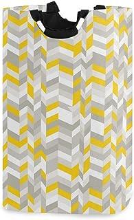 COFEIYISI Grand Organiser Paniers pour Vêtements Stockage,Motif de maison géométrique Vintage 60 s inspiré des lignes en z...