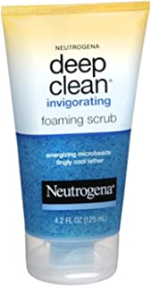 Neutrogena Deep Clean Invigorating Foaming Face Scrub with Glycerin, Cooling & Exfoliating Face Wash to Remove Dirt, Oil & Makeup, 4.2 fl. oz