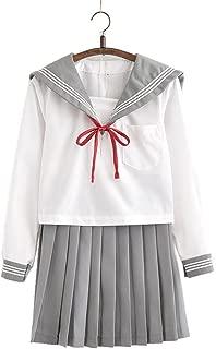 ACE SHOCK Japanese School Uniform Adult Women, Halloween Sailor Cosplay Costume Outfit Long Sleeve