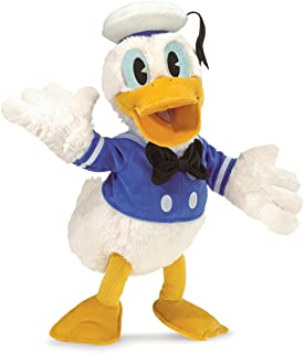 Folkmanis Disney Donald Duck Character Hand Puppet, White, Blue, Gold, Black, 1 EA