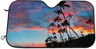 Bargburm Sonnenblende für Auto, SUV, LKW (129,5 x 69,8 cm), faltbar, UV Strahlen Reflektor, Frontscheibe