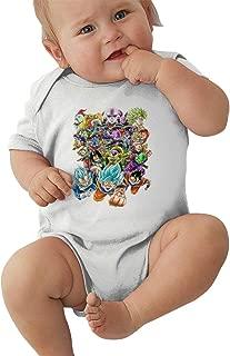 Dragon Ball Z Baby Unisex Cute Climbing Suit Short Sleeve