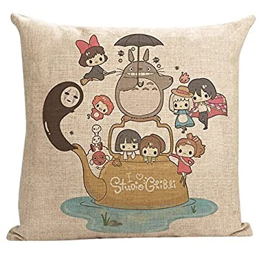 PillowStar New Style My Neighbor Totoro Throw Pillow Cover (Totoro7) by PillowStar
