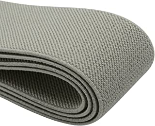 iCraft 1.5-Inch Wide Colored Double-side Twill Woven Elastic,2 Yards,Grey 32130